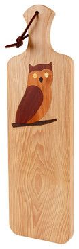 Artisan Bread Board with Owl - traditional - cutting boards - Kentucky Cutting Boards