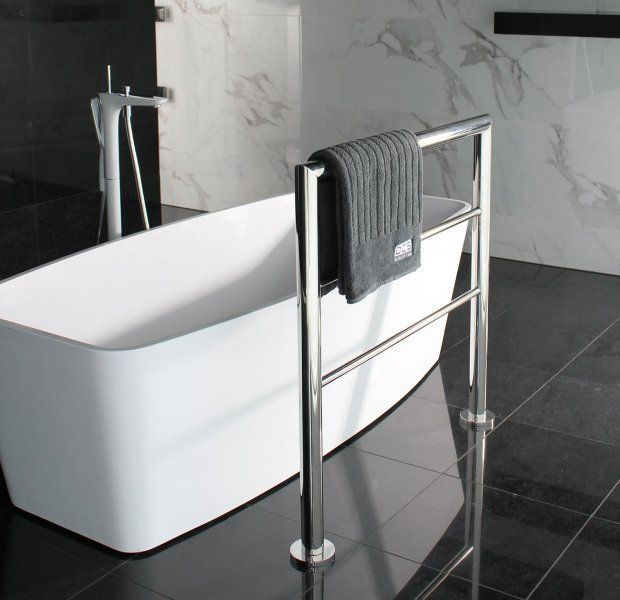 17 best ideas about free standing towel rail on pinterest - Free standing bathroom towel rack ...