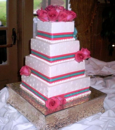 fuschia pink and blue wedding cake bestcake wedding cake ideas pink 14621