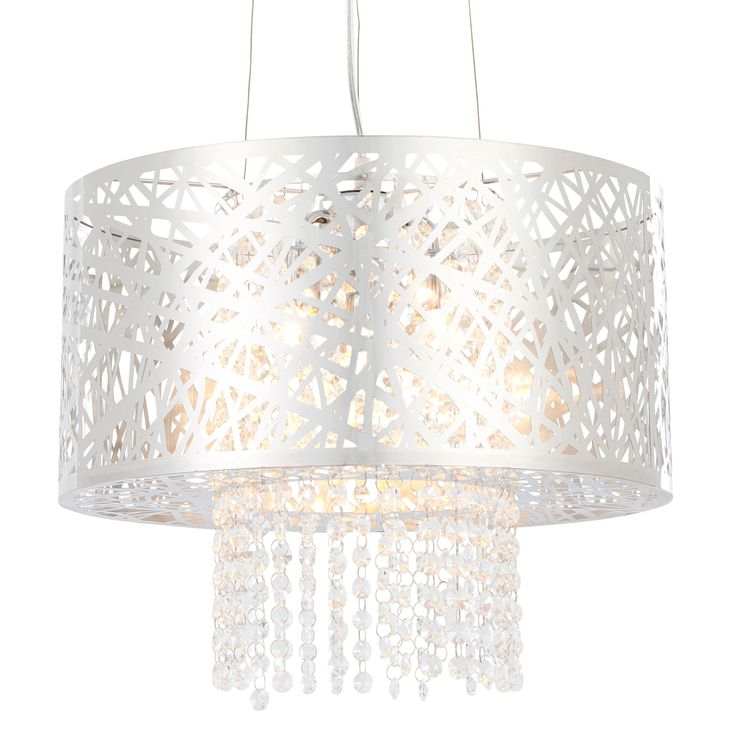 Lisotta chrome effect 4 lamp pendant ceiling light