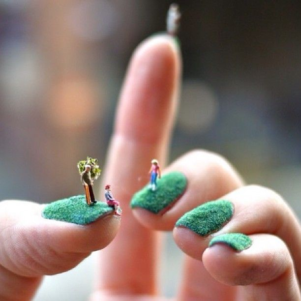 216 best nail art images on pinterest nail scissors lemon they say the grass is always greener would you wear these fuzzy nails prinsesfo Gallery