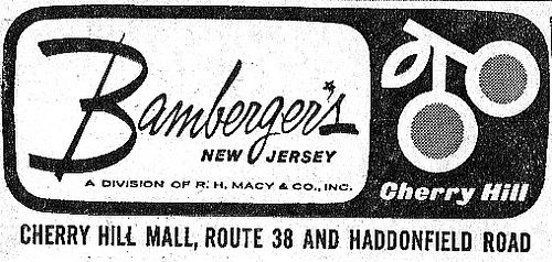 cherry hill mall old photos | Bambergers Cherry Hill Mall Logo