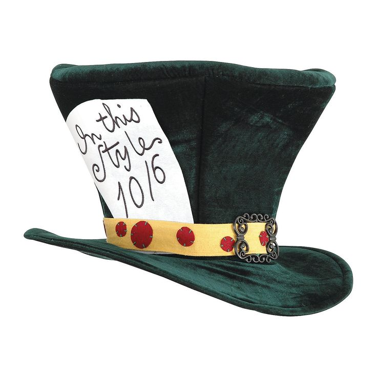 Alice in Wonderland Mad Hatter Hat - OrientalTrading.com