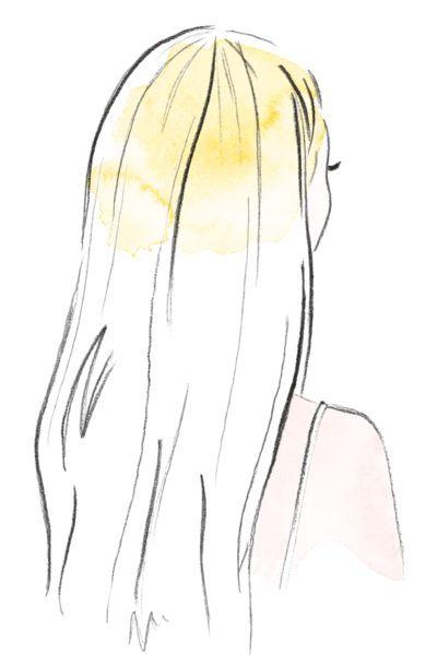 Bei überschulterlangem Haar