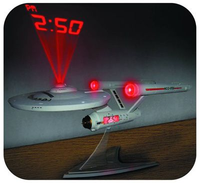 U.s.s. Enterprise Projection Alarm Clock By Raluca. Under Gadgets        Looks like the U.S.S. Enterprise NCC-1701 starship! Just right for any fan of Star Trek.