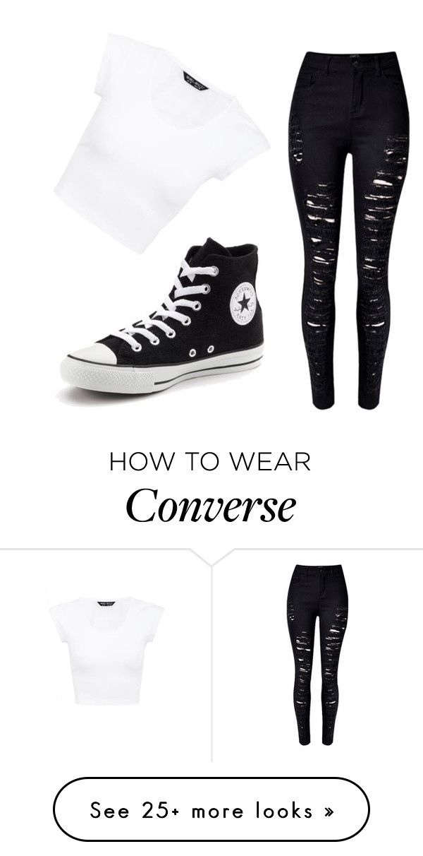 """""""converse"""" by pasciulli on Polyvore featuring WithChic and Converse"""