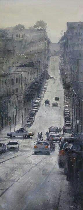 Artist: Pablo Ruben Lopez Sanz #watercolor #painting #art