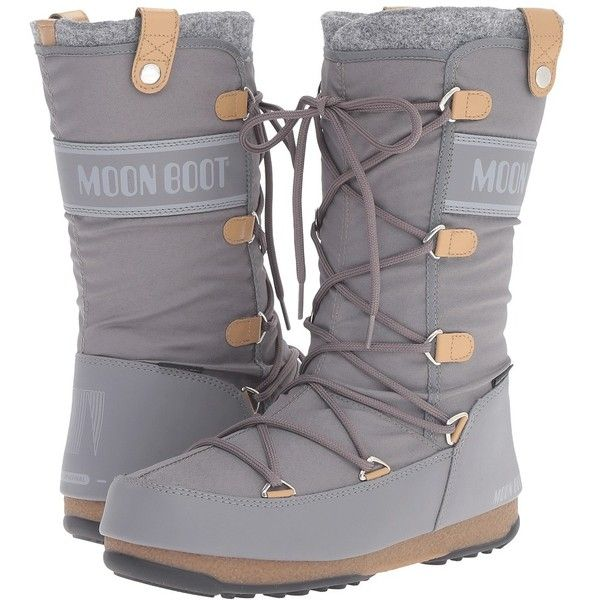Tecnica Moon Boot Monaco Felt (Grey) Women's Cold Weather Boots (€155)