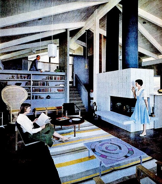 Living Room (1958) | Living rooms, Room and Mid century