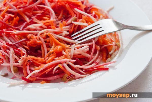 Салат из свеклы, капусты и моркови