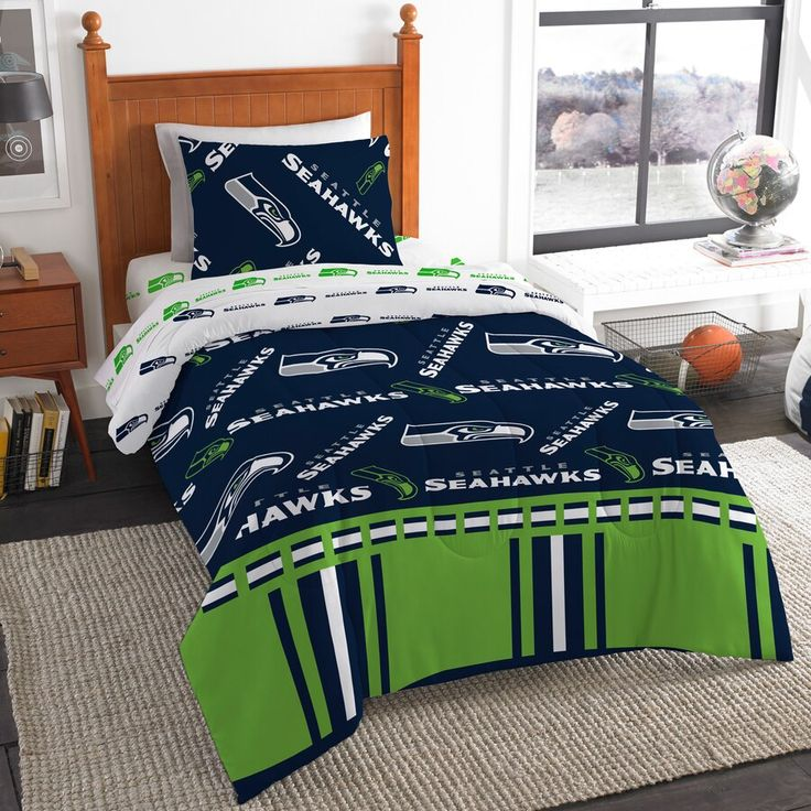Seattle Seahawks The Northwest Company 4Piece Twin Bed in