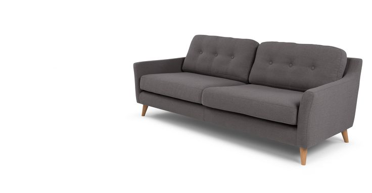 Rufus 3 Seater Sofa, Rhino Grey
