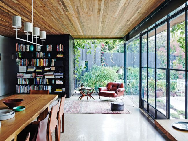 Colour scheme, timber ceiling. The home and work of Melbourne artist Anna Charlesworth
