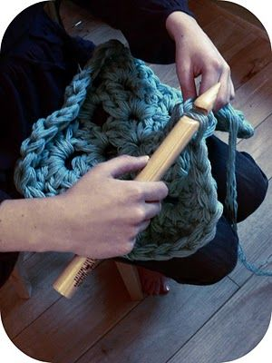 Extreme crochet! This looks like so much fun!