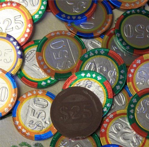 Chocolate Casino Chips - Las Vegas Poker Coins in Colorful Foil - 1 Pound FavorOnline http://www.amazon.com/dp/B00KHYKG6M/ref=cm_sw_r_pi_dp_mnCWub171KN09