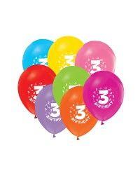 3 Yaş Karışık Balon (20 Adet)