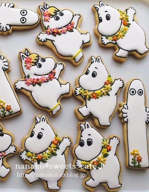ムーミンのアイシングクッキー・お花の作り方 : nanako*sweets-cafe♪