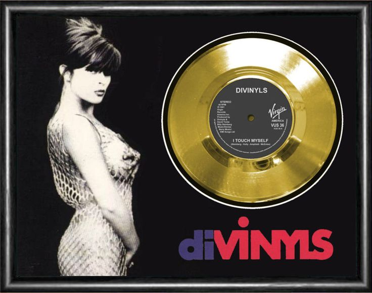 Divinyls I Touch Myself Framed Gold Disc Record Vinyl
