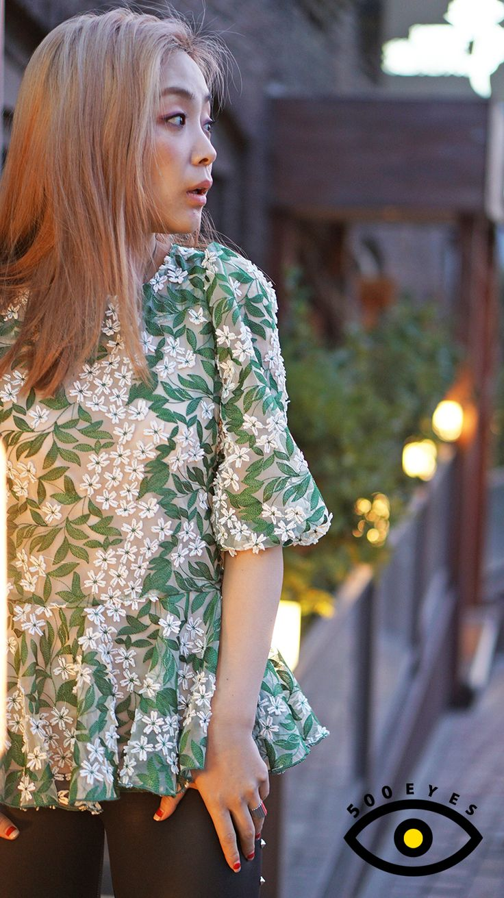 www.500eyes.com #500eyes #Green #blouse