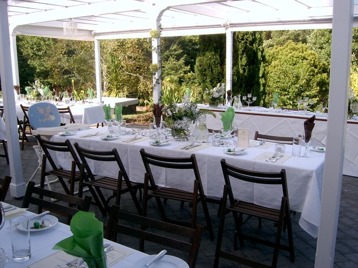Eden Catering | The table presentation at one of the many summer weddings.