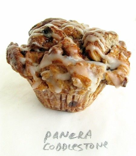 Panera's Cobblestone Streusel~Topped Icing~Glazed Muffin Recipe. If anyone else's mouth drooling :)