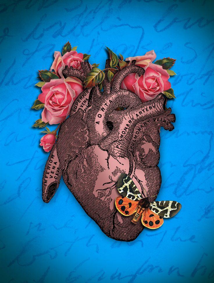 digital collage hearts pinterest coeur mon coeur et anatomie. Black Bedroom Furniture Sets. Home Design Ideas