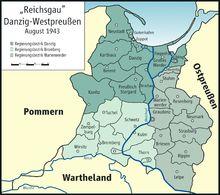 Reichsgau Danzig-Westpreussen 1943