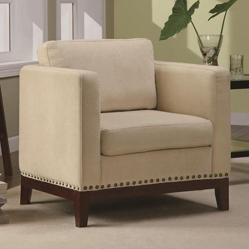 Accent Seating Transitional Accent Chair with Track Arms