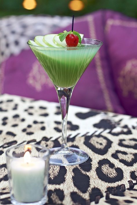 Apple Martini, Cavalli style.