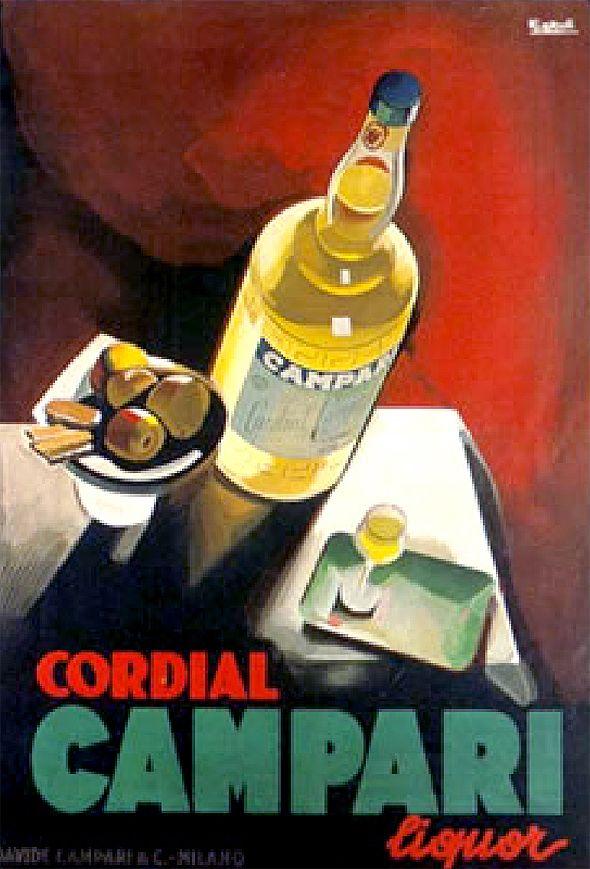 Vintage Italian Campari poster Italy