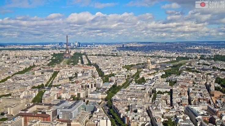 Paris, France - view down from Tour Montparnasse