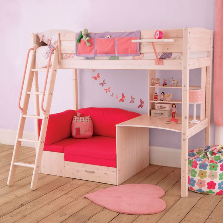 """Like the idea of havering a small """"hang out room"""" under the bed I would put curtain around the bottom though I 3 this bed - single bunk bed"""