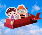 Little Einsteins paper cutout characters.  It's a pdf under Color and Create Tab.