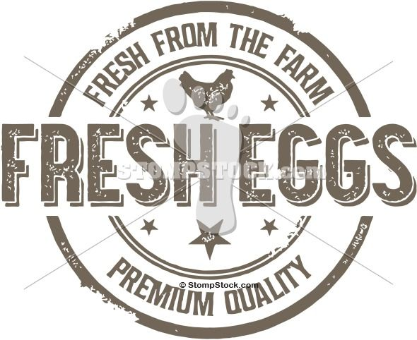 Distressed Vector Clipart Fresh From The Farm Premium Fresh Eggs