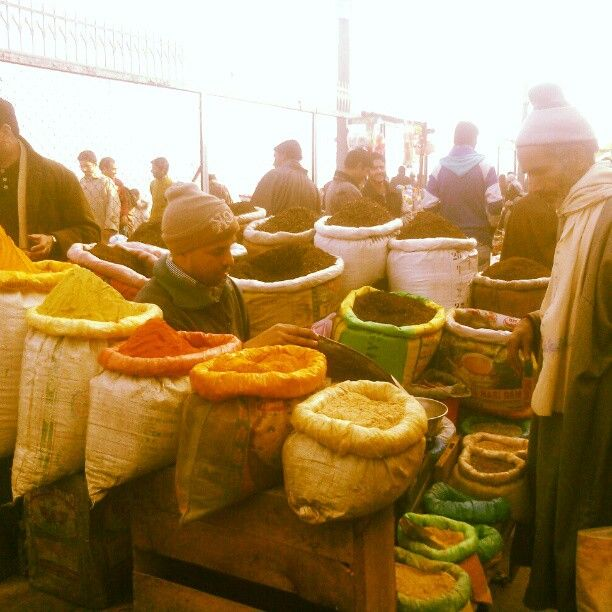 Man selling spices at Dargah, Hazratbal