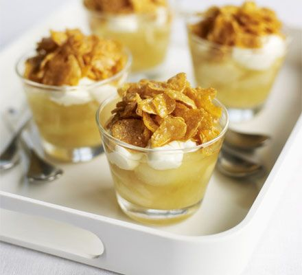 These moreish individual pudding pots have a crunchy top combined with a smooth apple sauce