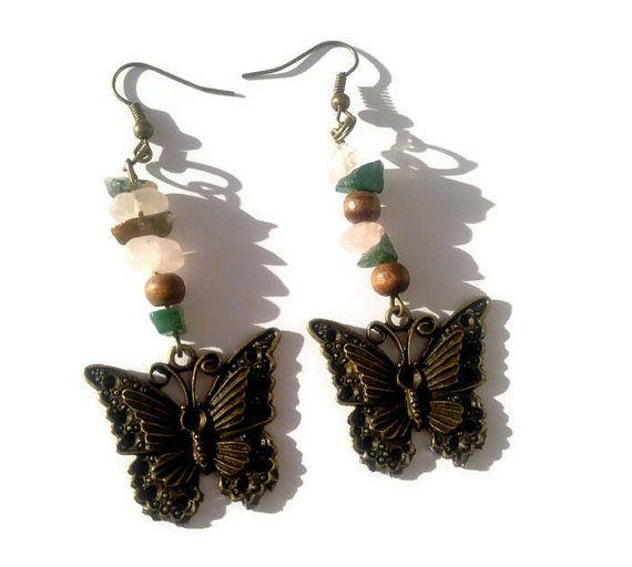 Garden Butterfly Earrings by Mythfolk on Etsy, $8.80