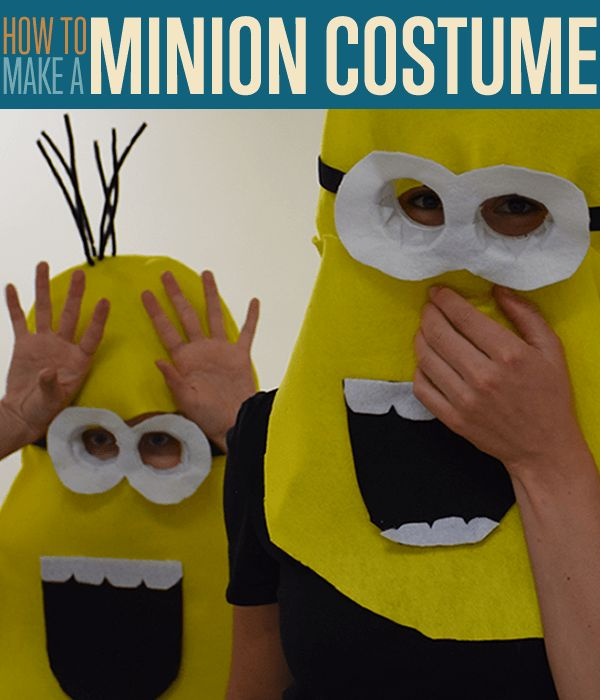 How to make a Minion Costume, an easy sewing tutorial for a homemade minion costumes for kids and adults! Crafts, DIY projects and Halloween costume Ideas.