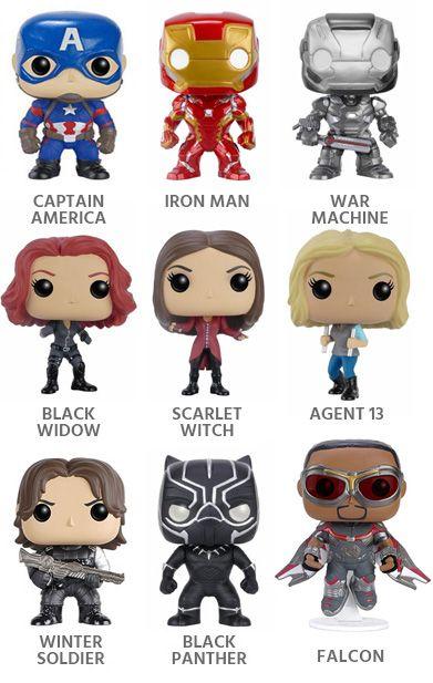 Captain America Civil War Funko Pop! Vinyls