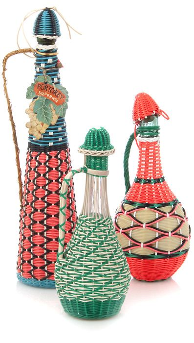 Vintage Scoubidou bottles available in store at Couverture.