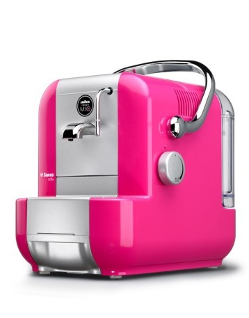 Lavazza coffee-espresso machine - love it in fuchsia pink! Italian chic!
