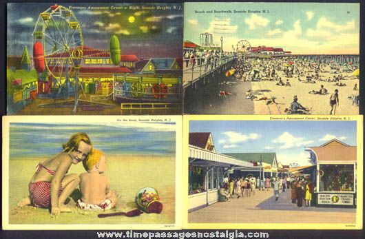 seaside park, nj | Colorful Old Seaside Heights New Jersey Amusement Park, Boardwalk ...