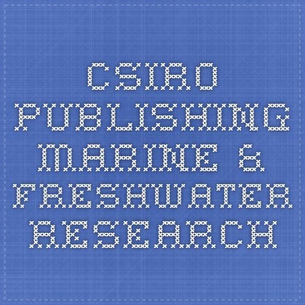 CSIRO PUBLISHING - Marine & Freshwater Research