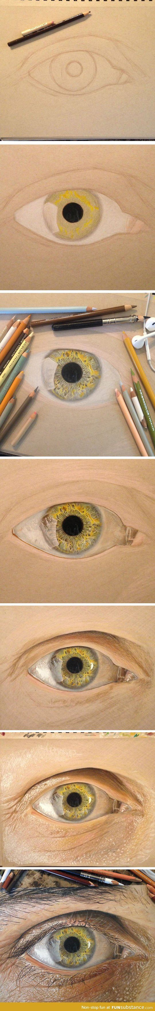 Not just an eye, hyperrealist eyes