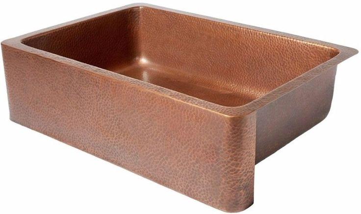 Front Sink Apron Kitchen Farmhouse Bowl Single Bowl Hammered Home Improvement #FarmhouseSink
