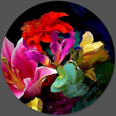 René Twigge, bloom v7.1, 2015 / 2015 © au.lumas.com/ #Lumasblossom,  blossoms,  bouquet of flowers,  Circle,  Circles,  colorful,  Colours,  Concept,  creations,  dahlias,  Digital,  Digital Art,  Flower,  flower head,  flower heads,  Flowers,  Garden,  Gardens,  Lilies,  luminous,  Nature,  neon,  Pink,  red,  round,  Spring,  Tulip,  virtual