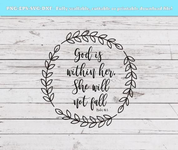 God is within her, she will not fall svg, Bible verse
