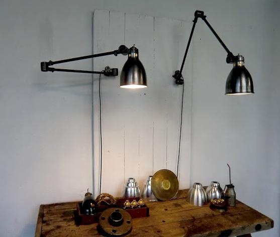 vintage industrial industrial and lamps on pinterest. Black Bedroom Furniture Sets. Home Design Ideas