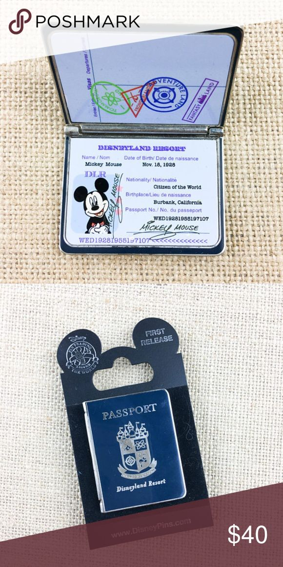 Disney Pin DLR Disneyland Resort Passport Disney Pin Hinged DLR Passport Disneyland Resort Mickey  This pin is hinged and opens to reveal Mickey inside passport pin  @Disney China  Comes with original backer card  Pin include mickey rubber pin back. Disney Jewelry Brooches