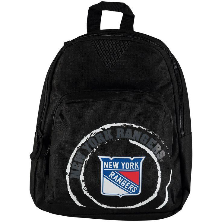 New York Rangers Black Offense Mini Backpack